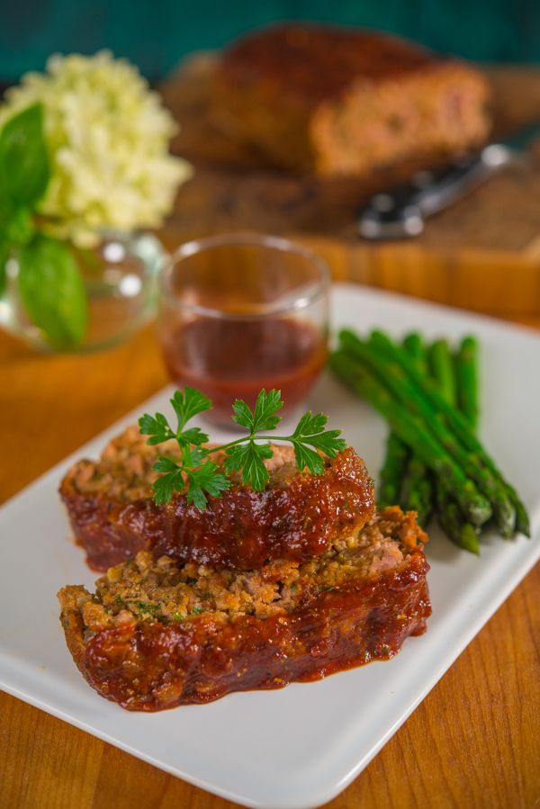 Barbecue Beef or Turkey Meatloaf with Homemade BBQ Sauce