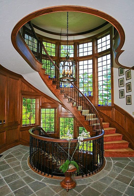 Custom Curved Staircase Stairs Pinterest
