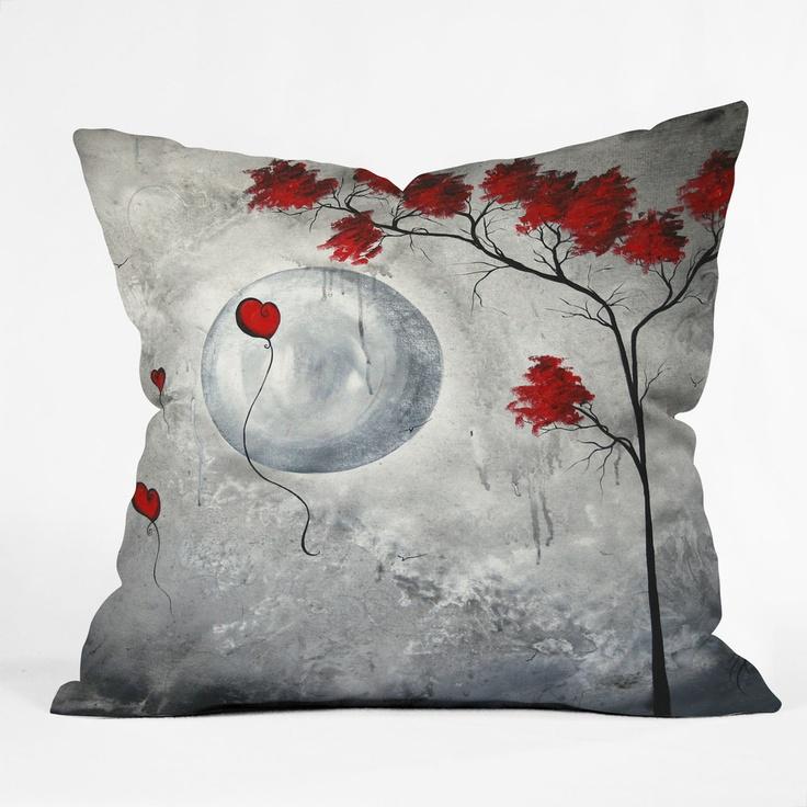 Madart Inc. Far Side Of The Moon Throw Pillow