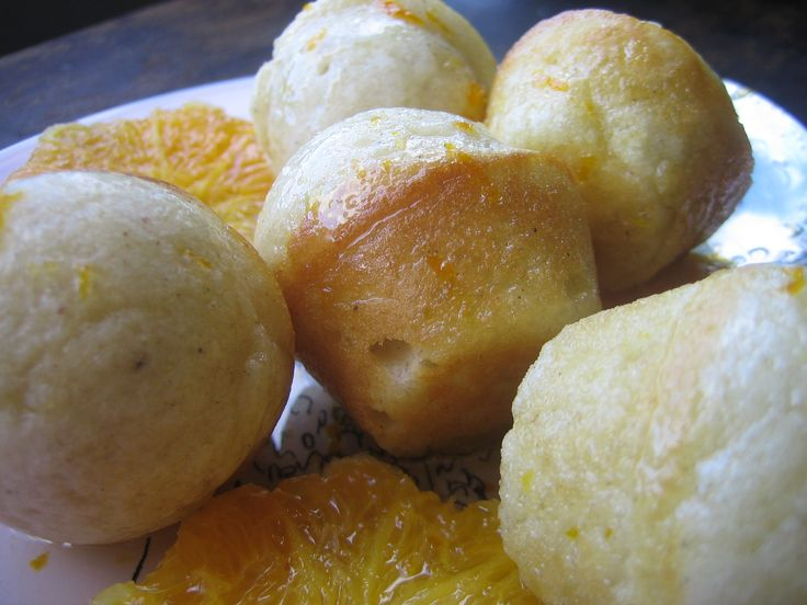 Cardamom Donuts with Orange Syrup. Baked, not fried!