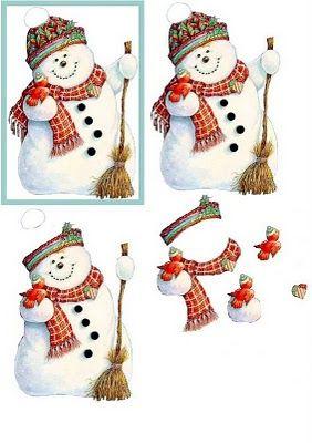 Bonhomme de neige 3d art pinterest - Pinterest bonhomme de neige ...