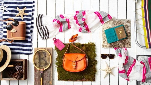 Summer Vacation Essentials! #tennis #scarf #starfish #panama #hat #beach #stripes #sunglasses
