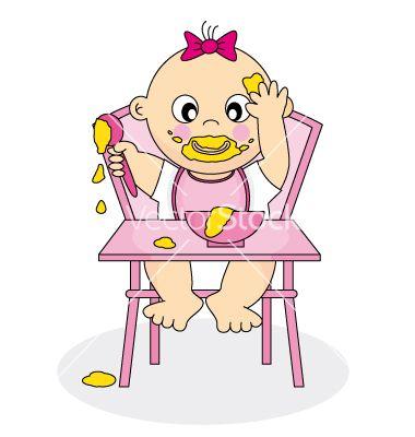 Baby girl eatin... Vectorstock Media