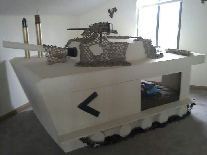 Tank bed hunter 39 s new bedroom ideas pinterest for Boys army bedroom ideas
