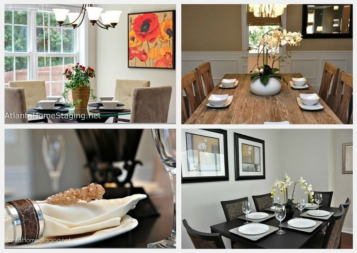 Atlanta Home Staging Dining Room Table Collage