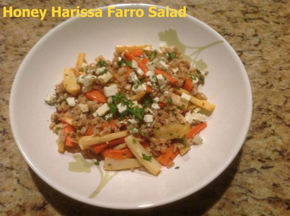 honey harissa farro salad | Salted Plates Recipes | Pinterest