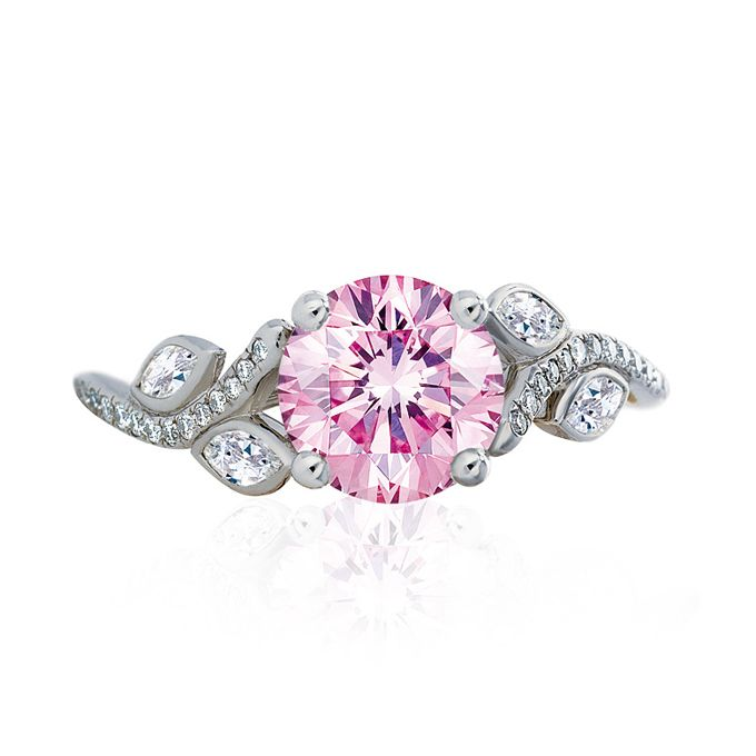 De Beers Adonis Rose Solitaire Pink Diamond Engagement Ring in Plat…