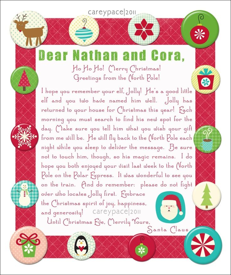 elf on the shelf introduction letter - Google Search