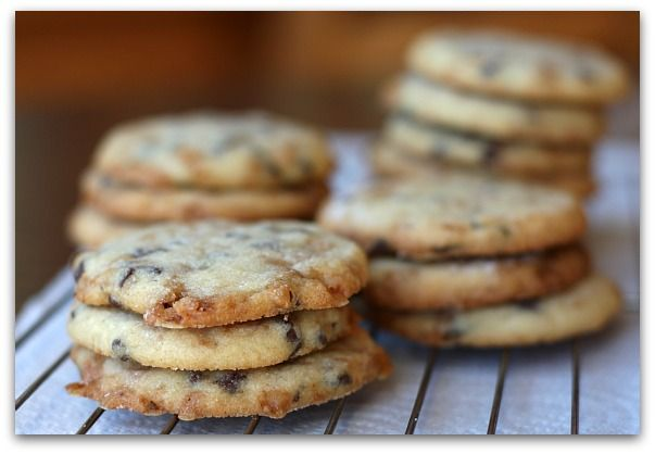 Chocolate Drizzled Toffee- Chocolate Chip Cookies | Recipe