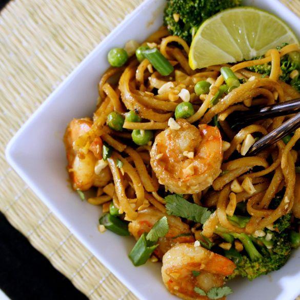 thai green curry shrimp yum woon sen thai noodles salad with shrimp ...
