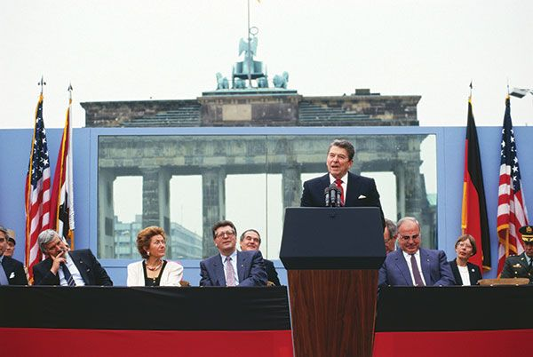 To everybody in the United States, Berlin's Brandenburg Gate will always be synonymous with the famous speech President Reagan gave there calling on Gorbachev to tear down the Berlin Wall.