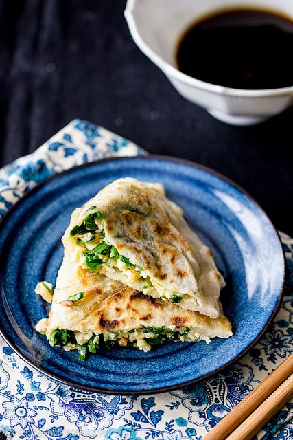 Garlic, Chive, and Egg Parcels