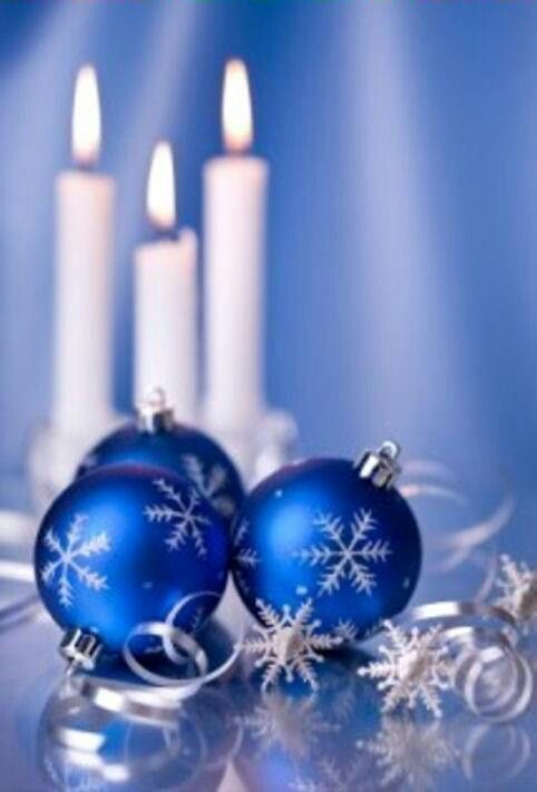 Christmas ornaments blue holiday pinterest - Blue and white christmas decor ...
