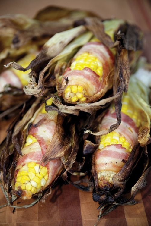 Bacon-Wrapped Corn on the Cob | Food || Side Dish Recipes | Pinterest