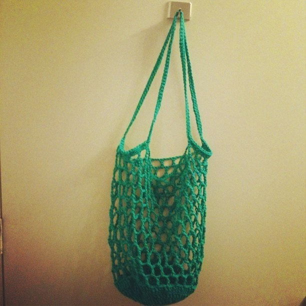 Free Crochet Patterns For Grocery Totes : Free Crochet Pattern. Reusable Bags. CROCHET Pinterest