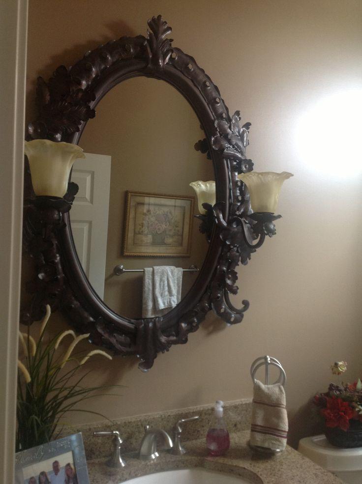 Bathroom mirror decorating ideas pinterest for Bathroom mirror design ideas