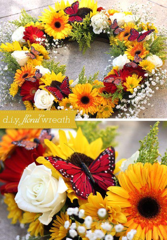 D i y fresh floral wreath