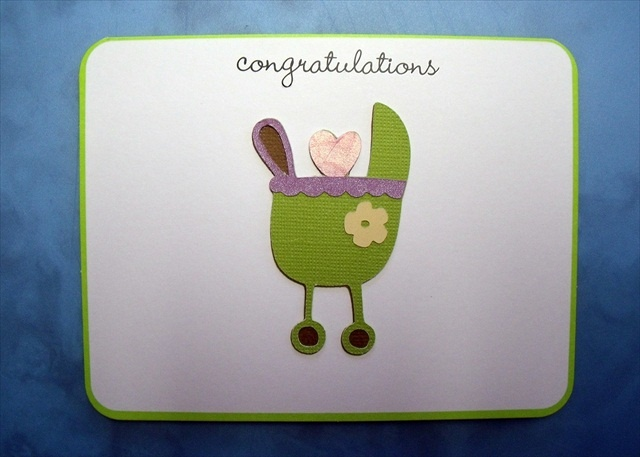 simple cricut baby shower card baby showers pinterest