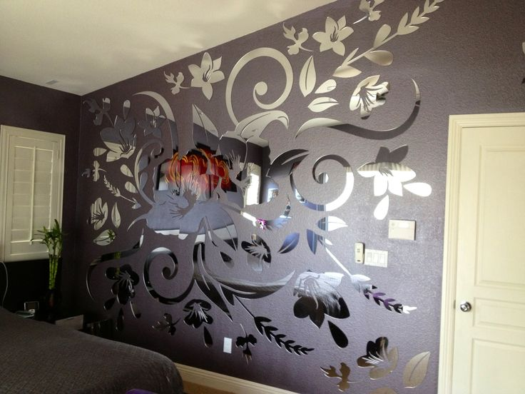 Just received this picture of a custom acrylic mirror project we've done. Lyudmilla, your wall looks absolutely FABULOUS!!