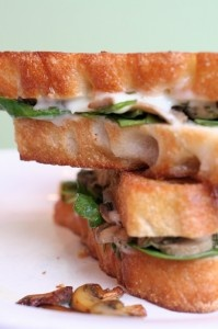 Grilled Cheese Sandwiches With Sauteed Mushrooms Recipe — Dishmaps