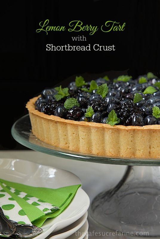 Lemon Berry Tart with Shortbread Crust | Recipe