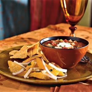 Chipotle Chicken and Tomato Soup - A chipotle chile (canned smoked ...