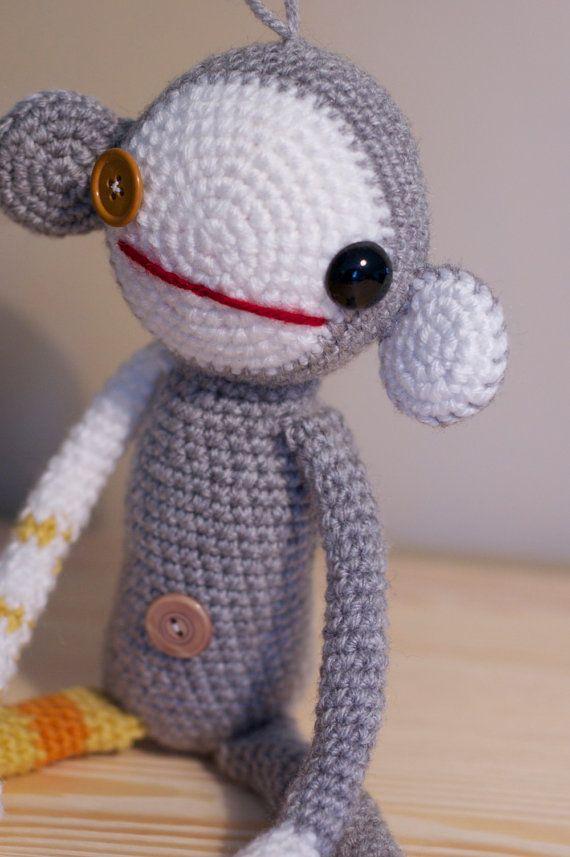 Crochet Zombie : Crochet Zombie Monkey Norman by BreakfastJones on Etsy, $30.00