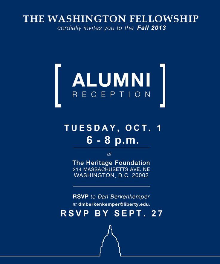 fall 2013 alumni reception invitation to design pinterest. Black Bedroom Furniture Sets. Home Design Ideas