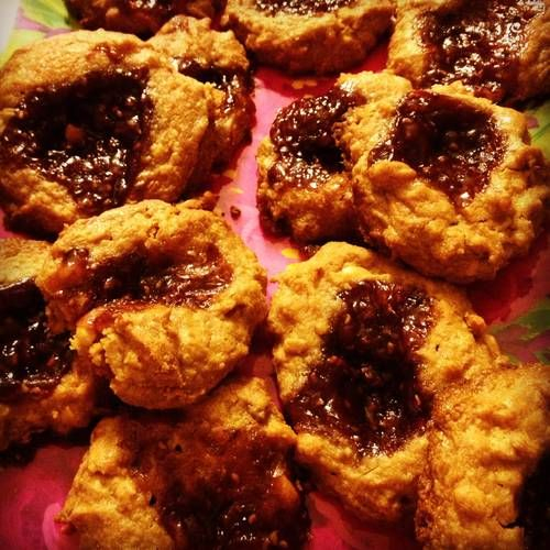 Peanut butter and jam cookies | Food | Pinterest