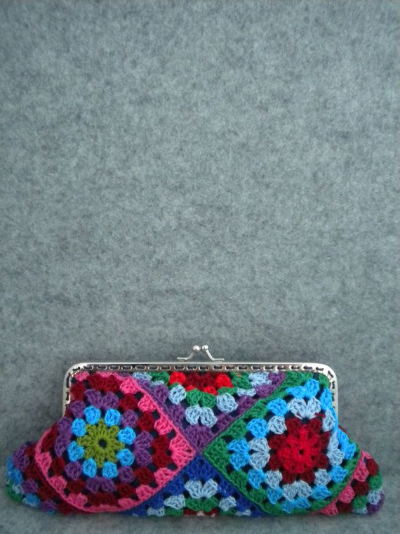 Crochet Bag Strap : Crochet Purse - Spring colours crochet handmade bag with strap