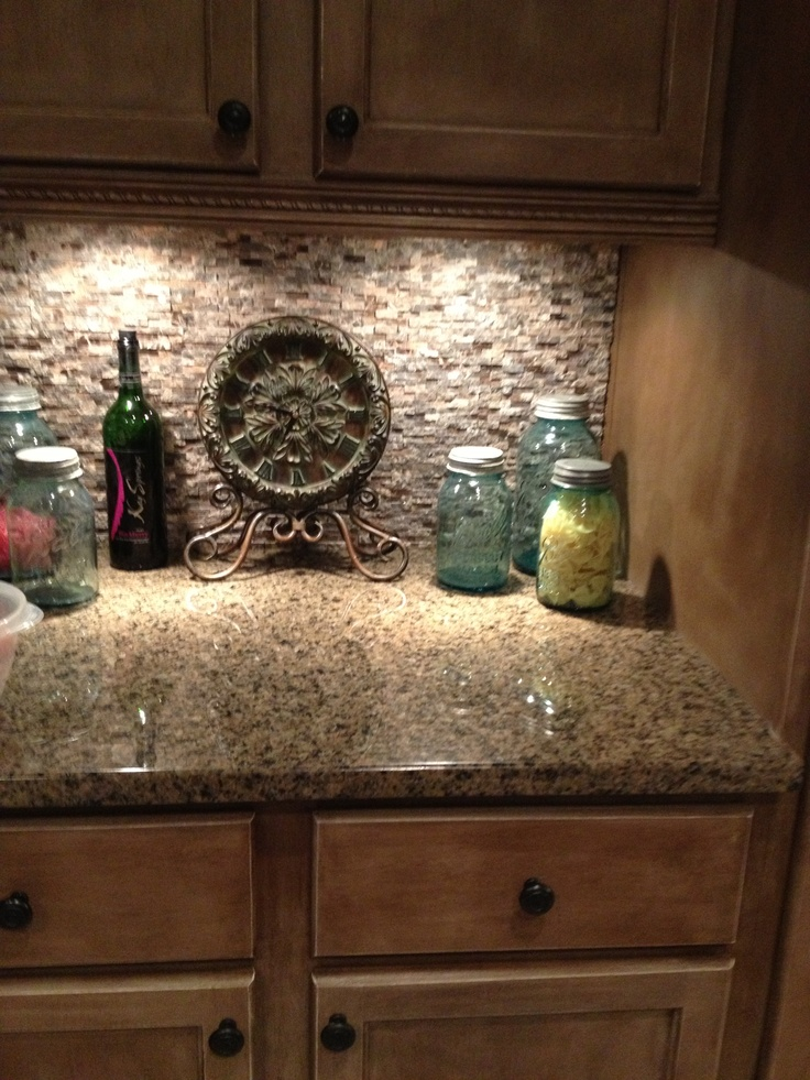 stone and glass tile for backsplash from home depot