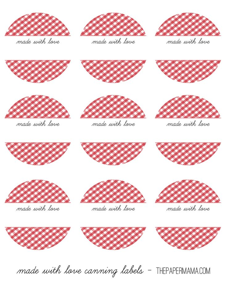 Round Canning Labels | Kitchen & Pantry Labels | Pinterest