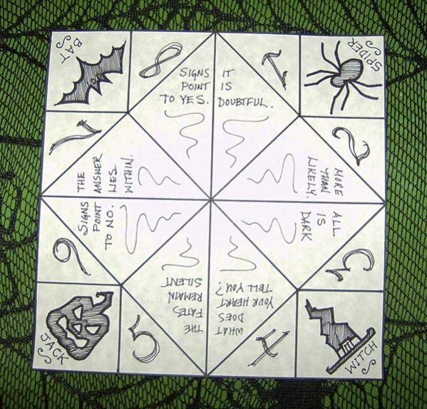 folded paper fortune teller template