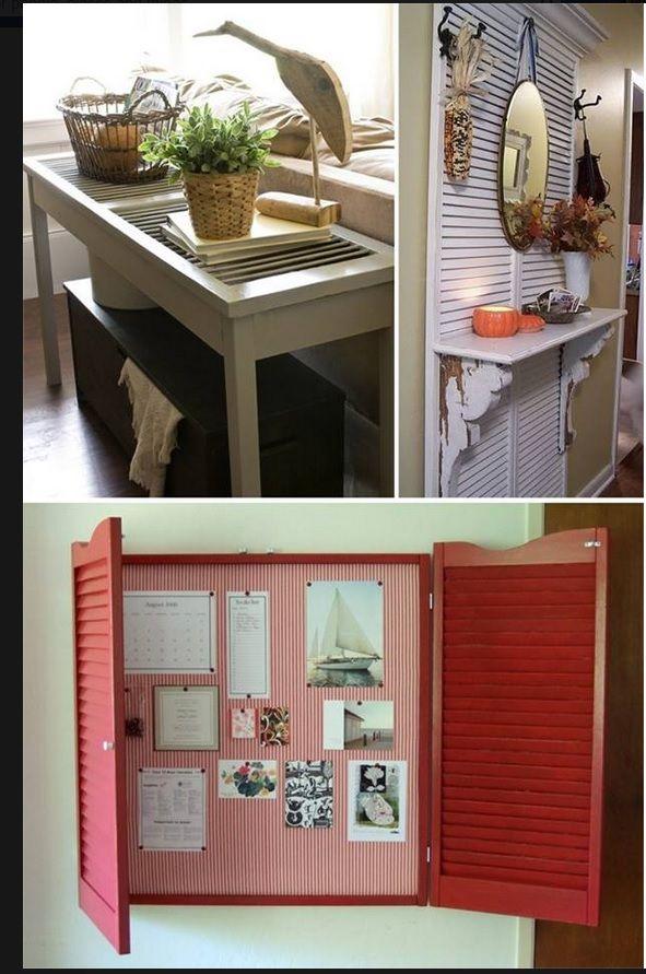 Reuse old closet doors   Neat Ideas for Home   Pinterest