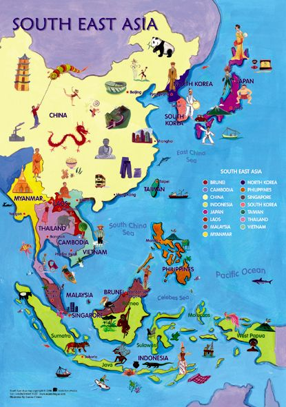 South East Asia Map Places I 39 d like to go to P