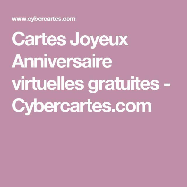 Carte Anniversaire Gratuite Cybercartes