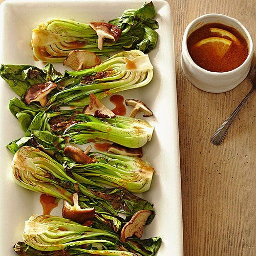 Broiled Bok Choy: This Chinese cabbage is topped with a miso sauce