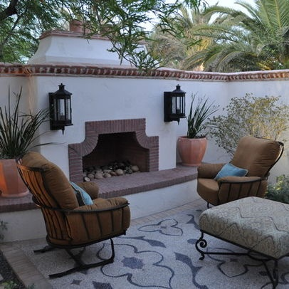 Spanish Outdoor Fireplace Mexican Patios Pinterest