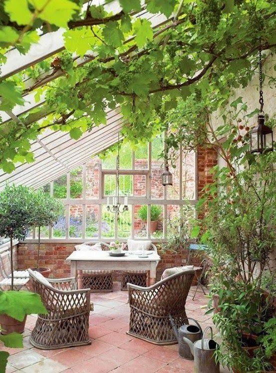 Green House Sun Room Conservatory Garden Pinterest