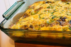 Friendly Breakfast Casserole with Mushrooms, Bell Peppers, and Feta ...