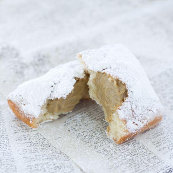 vanilla bean buttermilk beignets w/ chicory café au lait custard ...