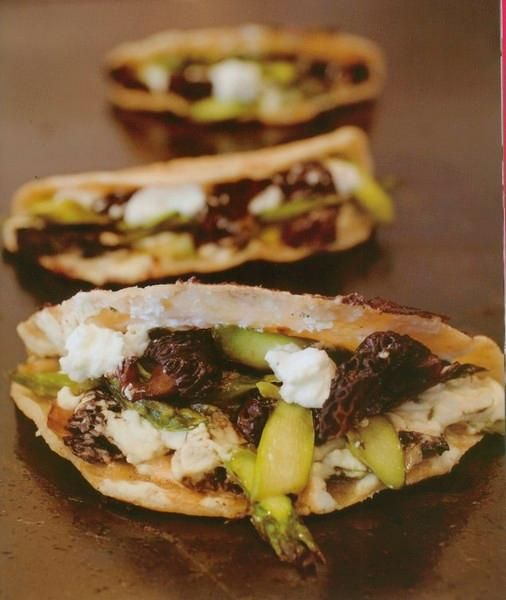 Quesadilla with Morel Mushrooms, Asparagus, Goat Cheese and Poblano ...