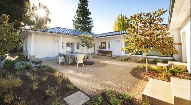 u shaped home courtyard home ideas our home pinterest