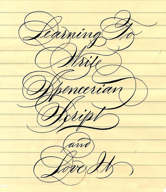 Learning to write spencerian script handwriting pinterest Handwriting calligraphy