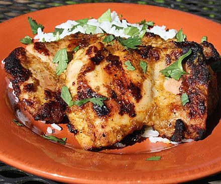Grilled Tandoori-Style Chicken Thighs | Chicken & Other Poultry...yum ...