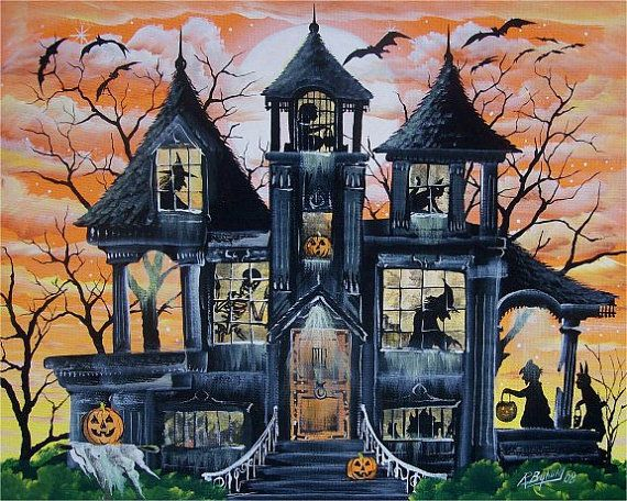 photos of halloween house decorations