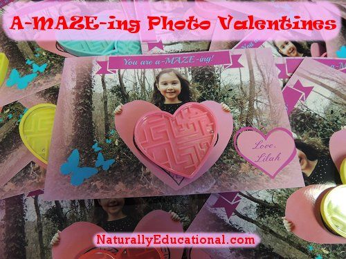 Valentine's Day You're A-MAZE-ing Photo Card #valentines