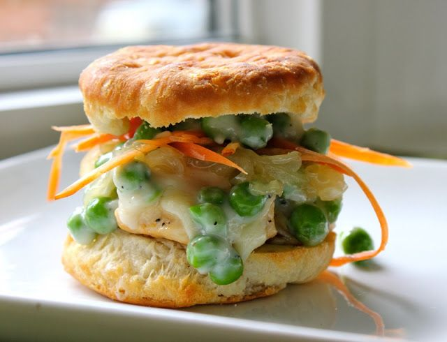 Chicken Pot Pie Sliders | She Eats | meat & fish recipes | Pinterest