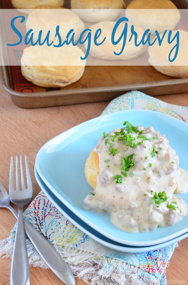 Learn how to make sausage gravy in minutes! from KatiesCucina.com