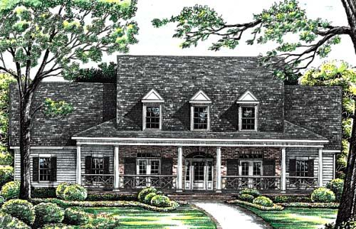 Cape cod country house plan 99425 for Country cape cod house plans